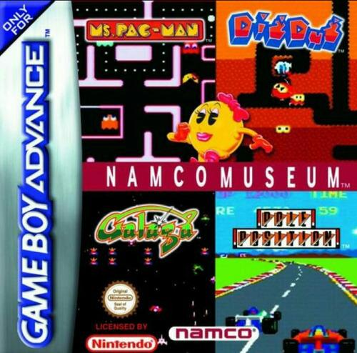 namco musseum galaga, galaxian, pac-man game boy advance