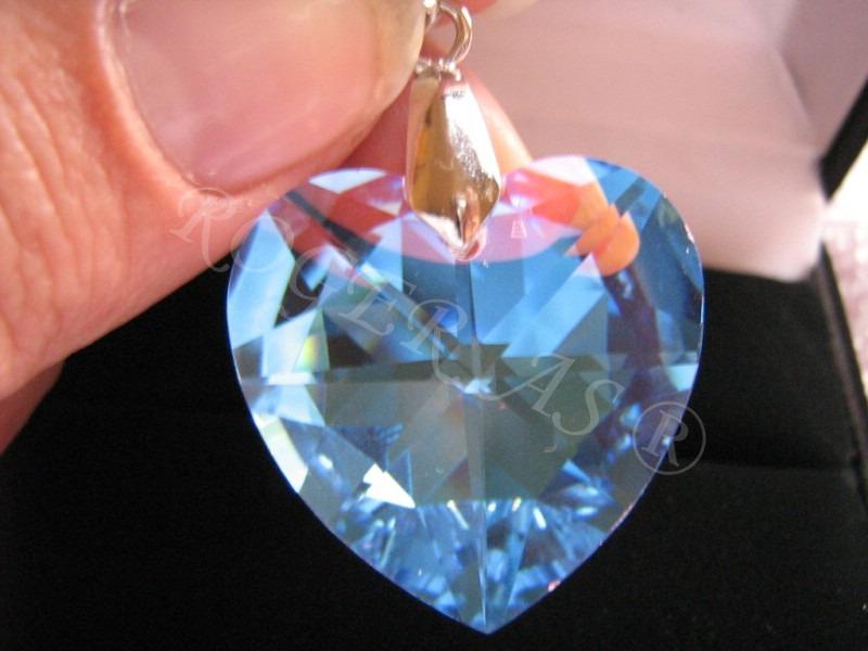 7d4034ed44358 Namorados Colar Coração Cristal Swarovski 2,0 Cm.. - R  48,00 em ...
