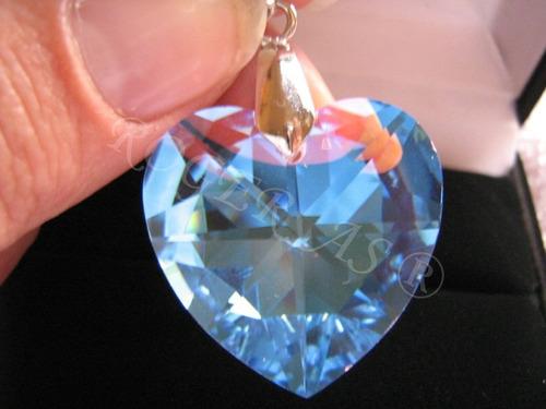 namorados colar coração cristal swarovski 2,0 cm..