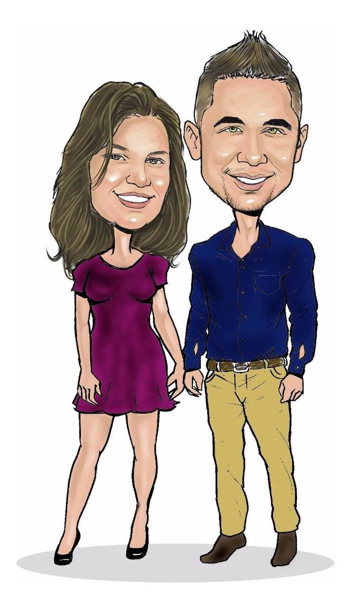 Namorados Desenho Personalizado Caricaturas R 60 O Casal R 60