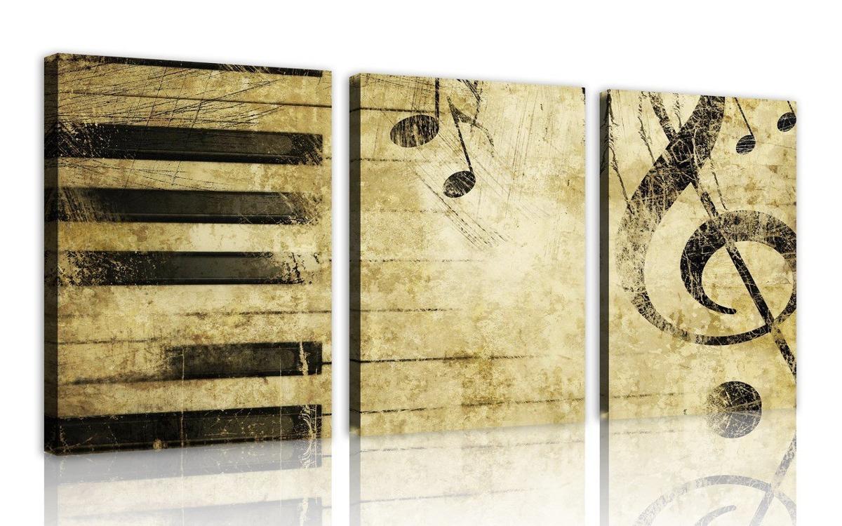 Nan Wind Note And Piano S Keys En El Papel Wall Art Pai