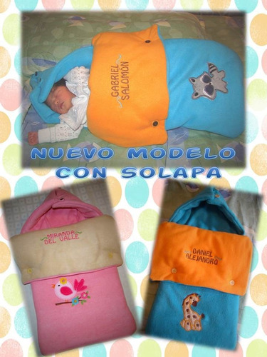 nanas bordadas, sleeping para bebé, nacimiento, baby shower.