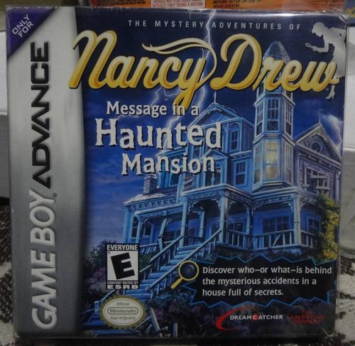 nancy drew gameboy advance caja manual gamekiosko