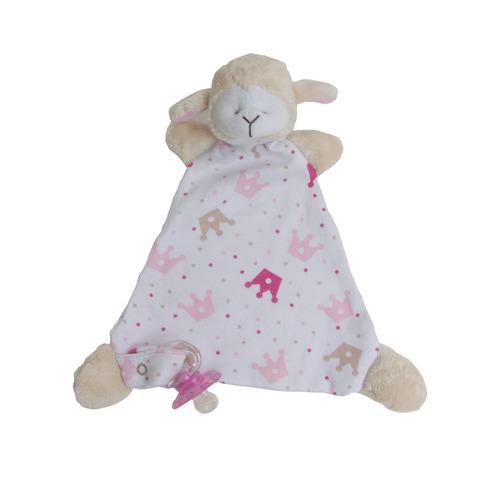 naninha bebê- cheirinho- porta chupeta - ovelha menina