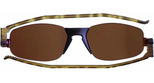 nannini compact óculos sol solemio - rajado com lente marrom