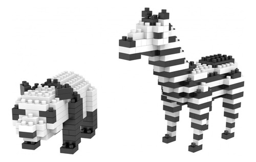 nano blocos 2 em 1 animais