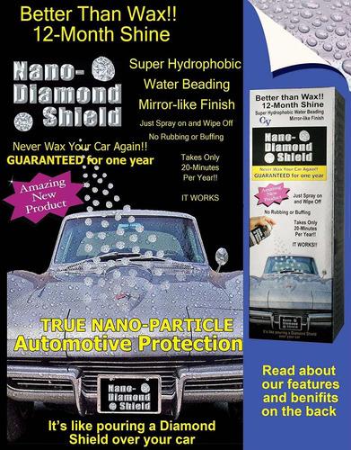 nano diamond shield - súper hidrofóbico, repelente al agua