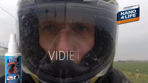 nano protección nano4life visera casco motocicleta, aplicado