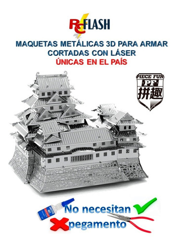 nano puzzle maqueta 3d metálica piece fun como metal earth