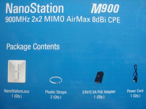 nano station m900 mimo ubiquiti 900 mhz 400 mw 8dbi dual pol