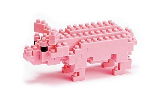 nanoblock cerdo rosa cesped original mini bloques ármalo tú