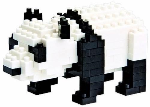 nanoblock giant panda con más 150 piezas