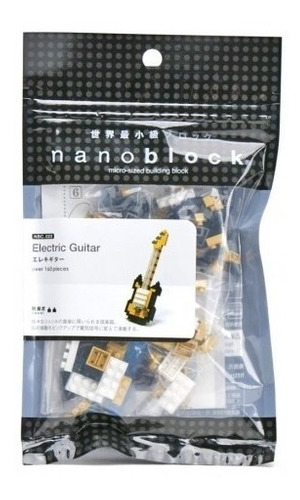 nanoblock guitarra eléctrica golden original mini bloques