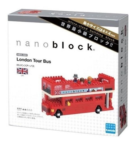 nanoblock london tour bus mini bloques ármalo tú mismo