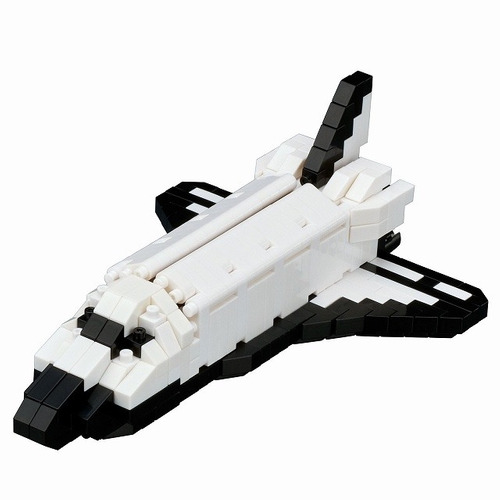 nanoblock nave espacial nasa mini bloques ármalo tú mismo