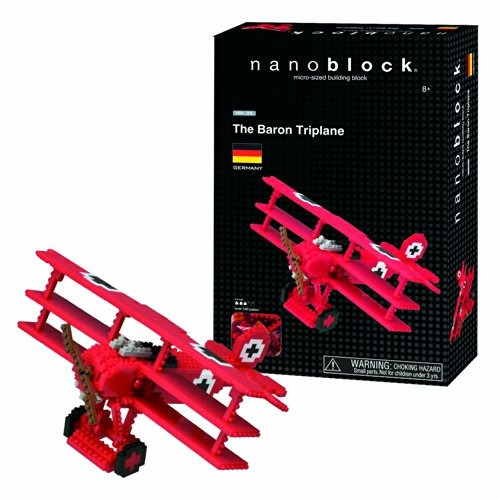 nanoblock red baron tri-plane kit