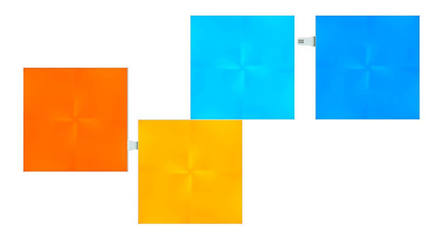 nanoleaf canvas squares expansion 4 painéis rgb quadrado