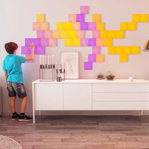 nanoleaf canvas squares touch kit 9 painéis rgb quadrado