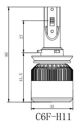 nao h11 h9 h8 72w faros kit led cob 7600lm/set 6000k flip ch