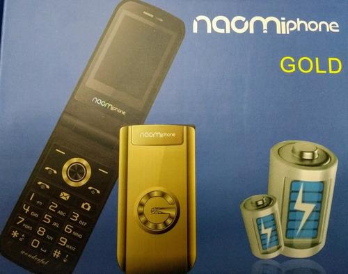 naomiphone gold dual sim sonido y luces potentes liberado
