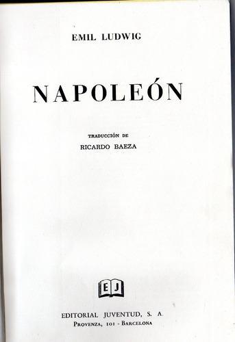 napoleón - emil ludiwig