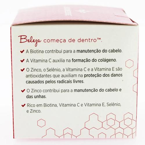 naära jeunesse - colágeno cabelo e unhas - 30 capsulas 600mg