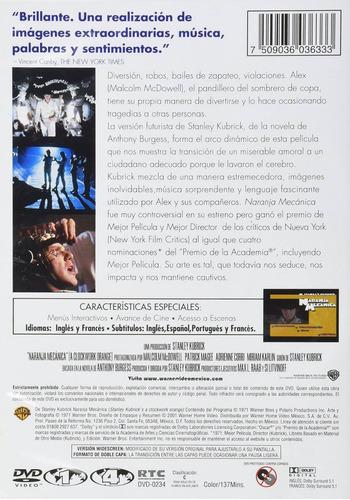 naranja mecanica stanley kubrick pelicula dvd