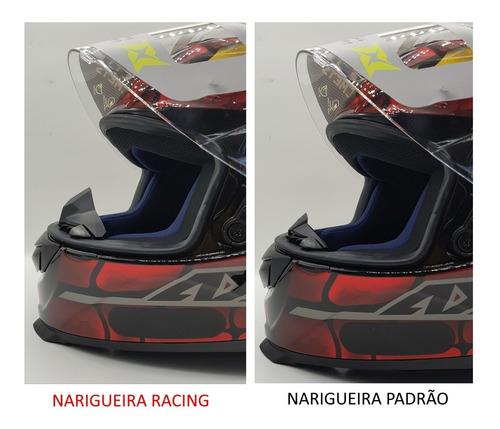 narigueira alta racing para capacete axxis eagle
