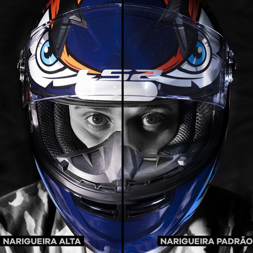 narigueira capacete ls2 ff358 e ff353 super alta racing