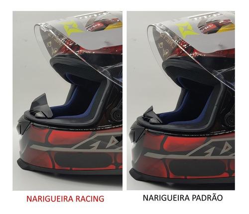 narigueira racing para capacete axxis eagle mais alta