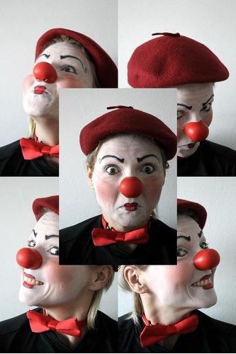 nariz de palhaço em látex profissional nº3 mascara
