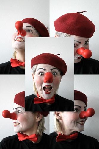 nariz de palhaço em látex profissional nº38 mascara bufão