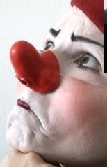 nariz de palhaço em látex profissional nº9 mascara