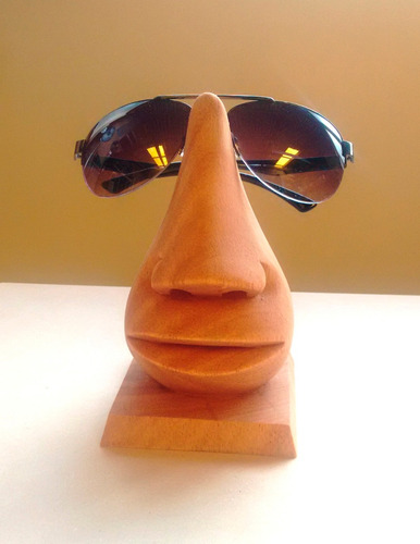 narizon de madera porta lentes