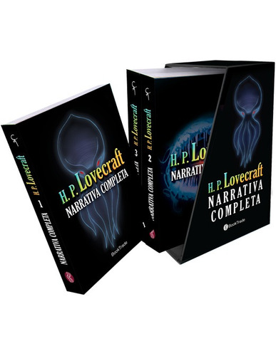narrativa completa h. p. lovecraft 3 tomos - en estuche