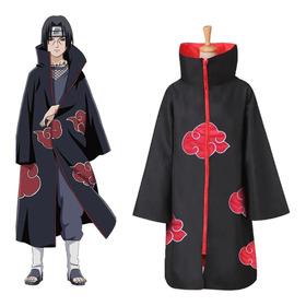 Naruto Akatsuki Uchiha Itachi Manto Traje Cosplay