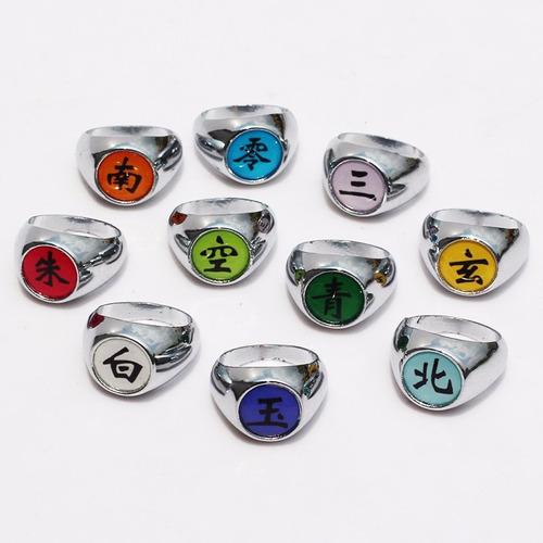naruto clan akatsuki estuche x 10 anillos cosplay