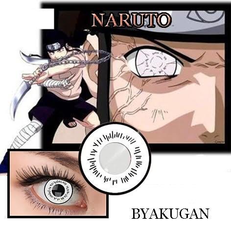 naruto , lentes de contacto , de  byakugan