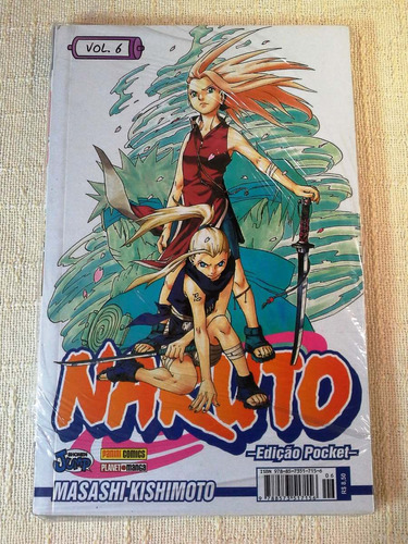 naruto pocket nº 06 - novo e lacrado!!! baú comic shop