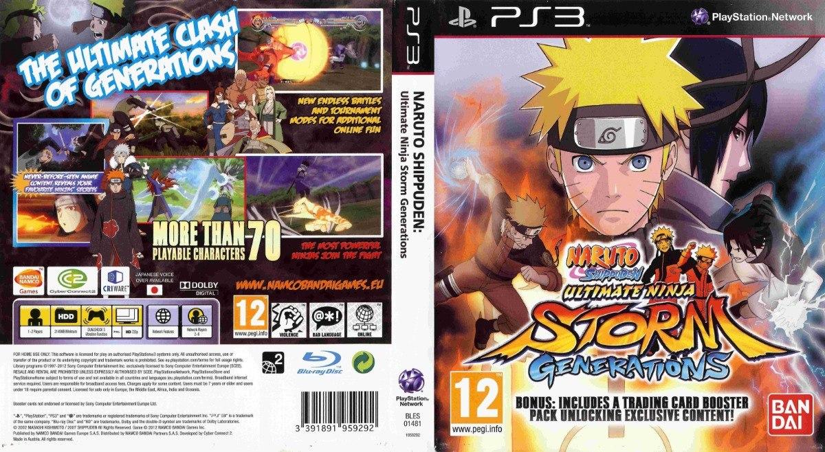 Naruto Shippuden Ultimate Ninja Storm Generations Ps3 Fisico - $ 800,00