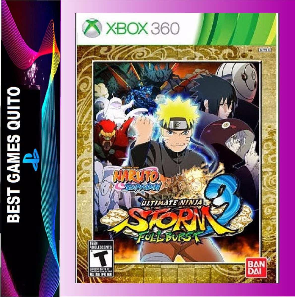 Naruto Ultimate Ninja Storm 3 Full Brus Xbox 360 Juego Nuevo U S