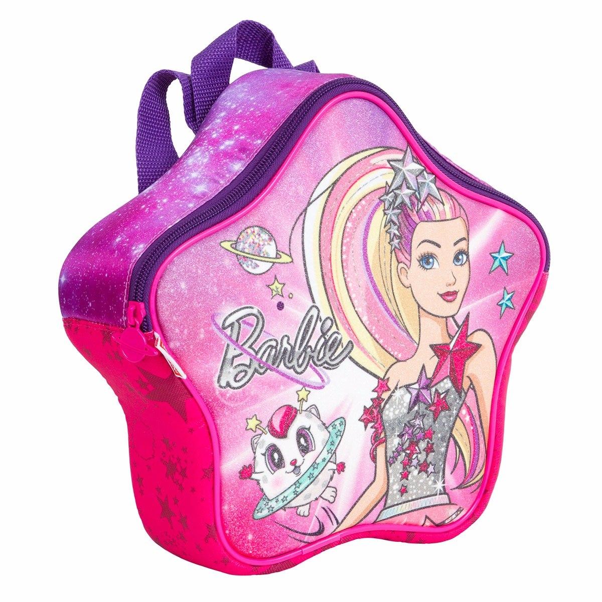 71ce5f5fe Kit Mochila Infantil Bau Barbie Aventura Nas Estrela Sestini - R ...