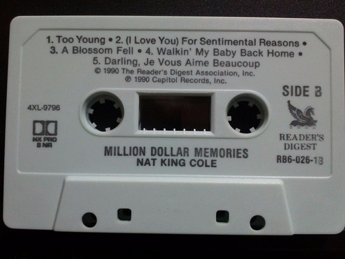nat king cole million dollar memories cass usado ed 1990 usa