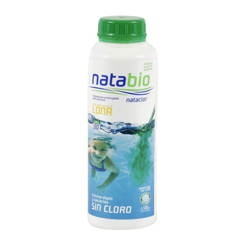 natabio tratamiento para pileta lona sin cloro 500cc nataclo