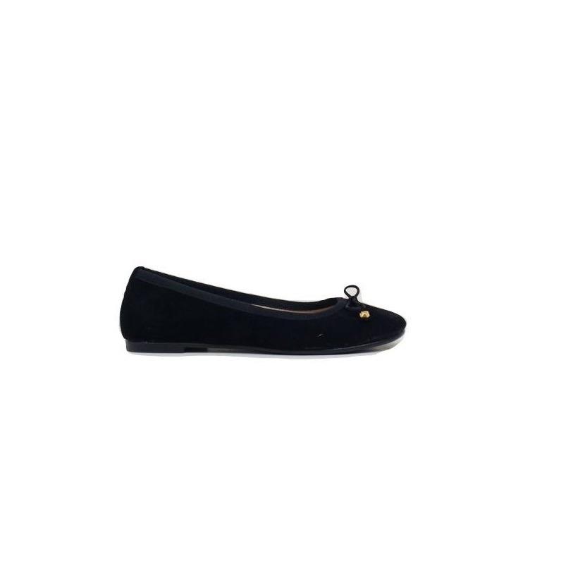 f988af36e42 natacha zapato mujer ballerina gamuza negra  3020. Cargando zoom.
