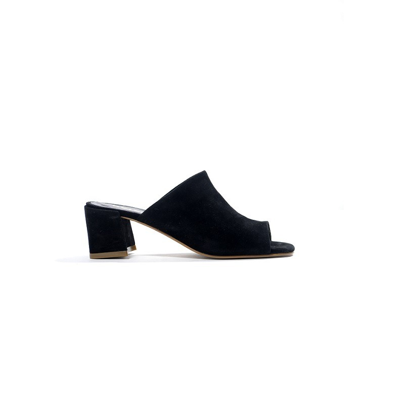 981bb9ed Natacha Zapatos Mujer Sandalia Gamuzón Negro #460 - $ 3.125,00 en ...