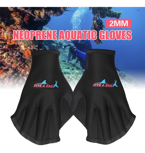 natación guantes acuático aptitud palmeado guantes agua resi