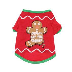 b0cb77f434 Camiseta Roupa Pet Natal Para Cachorro  Gato Em Algodão