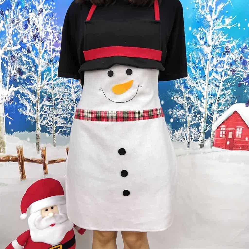 Natal Desenhos Animados Papai Noel Avental Bar Garcom Cozinh R