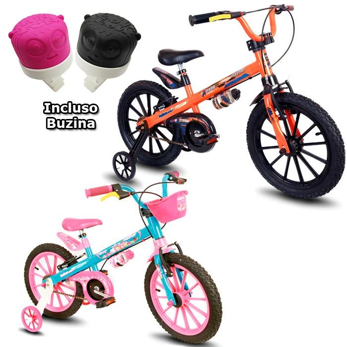 bcaa42dab Bicicleta Infantil Nathor Aro 16 Feminina Ou Masculina Top - R  474 ...